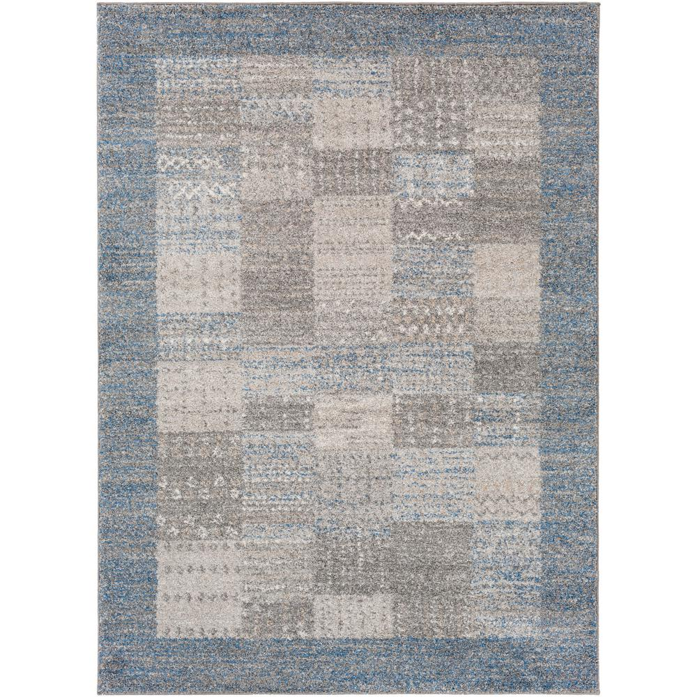 Surya fowler bright blue 5 ft x 7 ft 6 in indoor area for Bright blue area rug