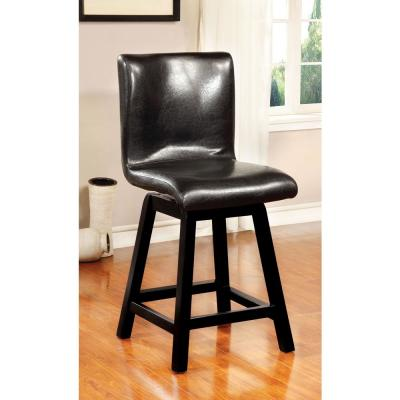 Hurley Black Modern Style Counter Height Chair