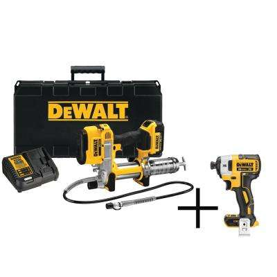 20-Volt MAX XR Lithium-Ion Cordless Grease Gun Kit with Free Impact Driver