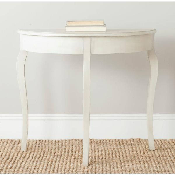 Sema Antique White Console Table