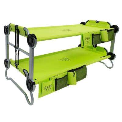 Kid-O-Bunk 65 in. Lime Green Bunk Beds with Organizers