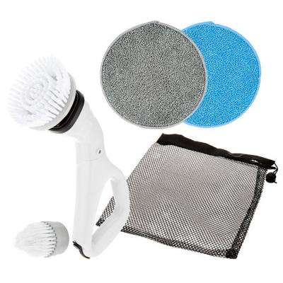 Multi-Purpose Compact Power Scrub Brush in White