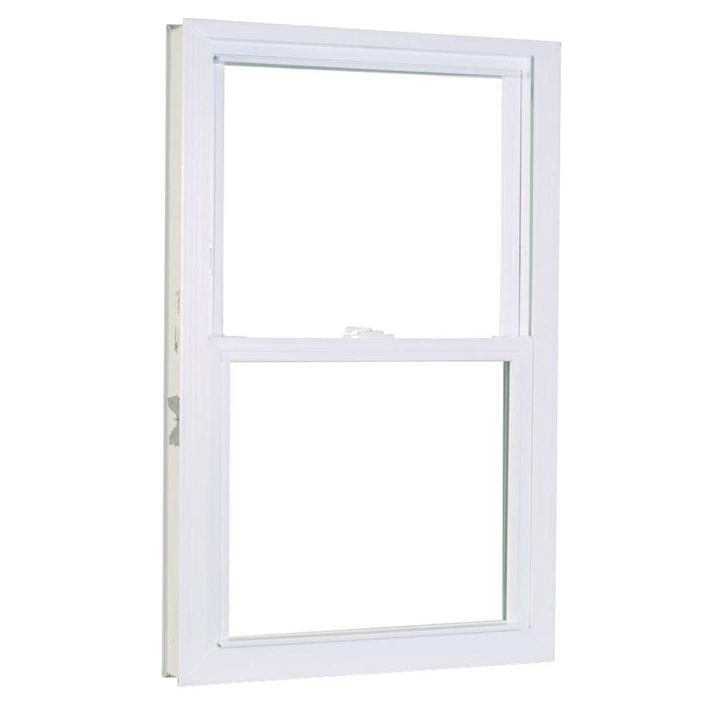 27.75 in. x 45.25 in. 1200 Series Double Hung Buck Vinyl