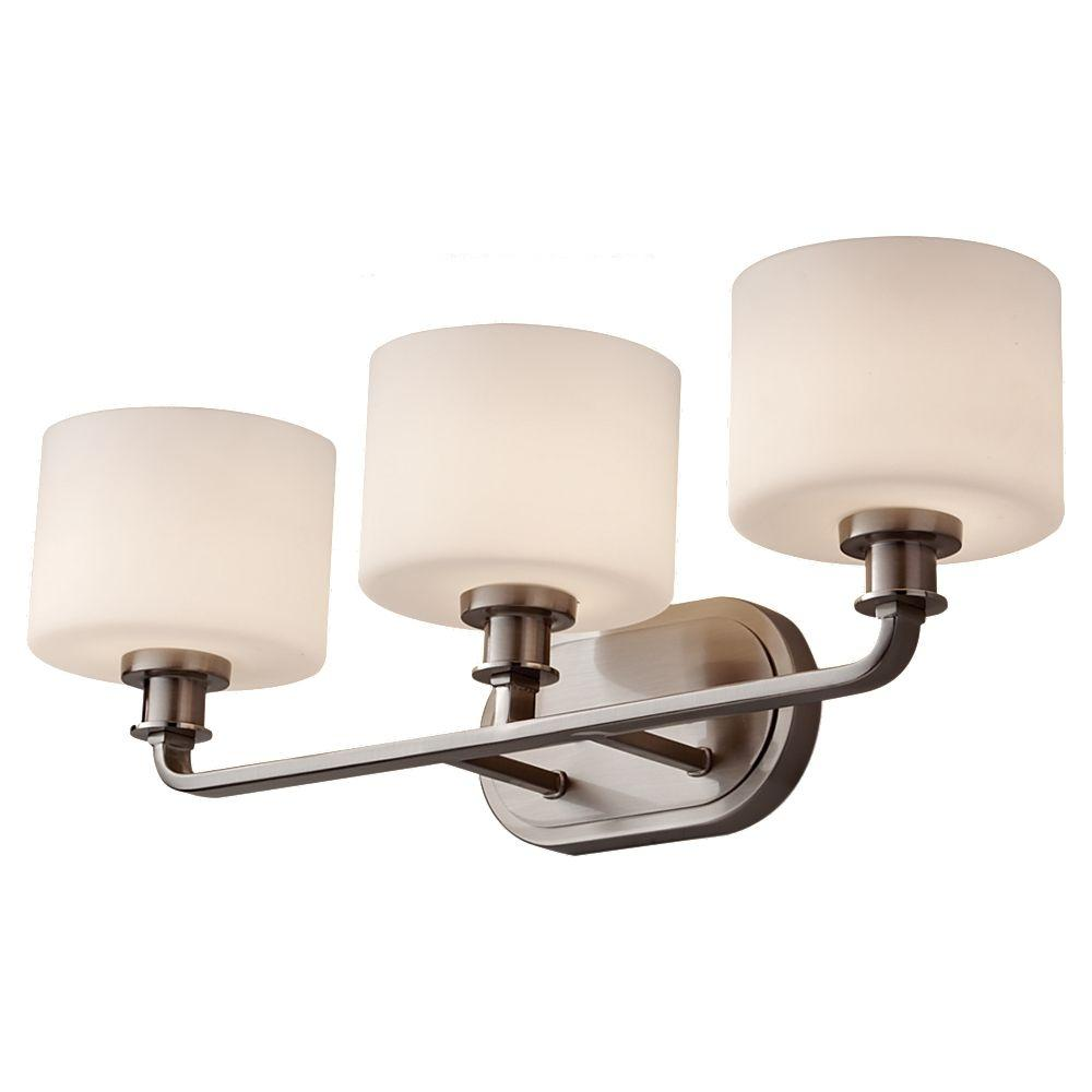Murray Feiss Lighting Parts: Feiss Kincaid 3-Light Brushed Steel Vanity Light-VS29003