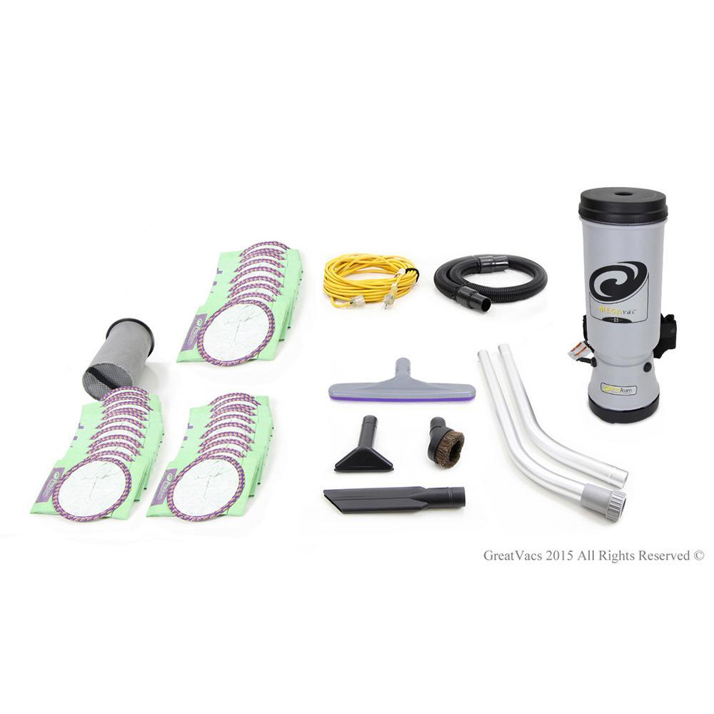 New Loaded More Powerful 2015 MegaVac 10 Qt. Backpack Vacuum Cleaner