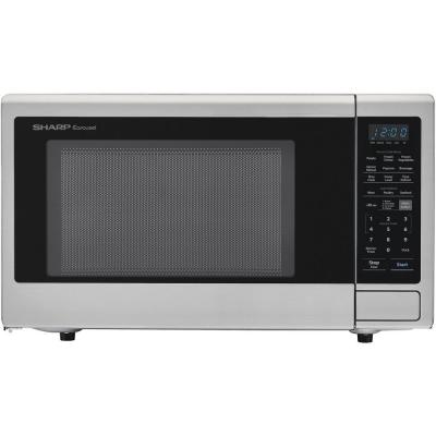 Carousel 2.2 cu. ft. Countertop Microwave Oven in Stainless Steel