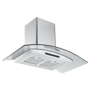 GCL636 36 in. Convertible Wall Mounted Range Hood in Stainless Steel with Night Light Feature