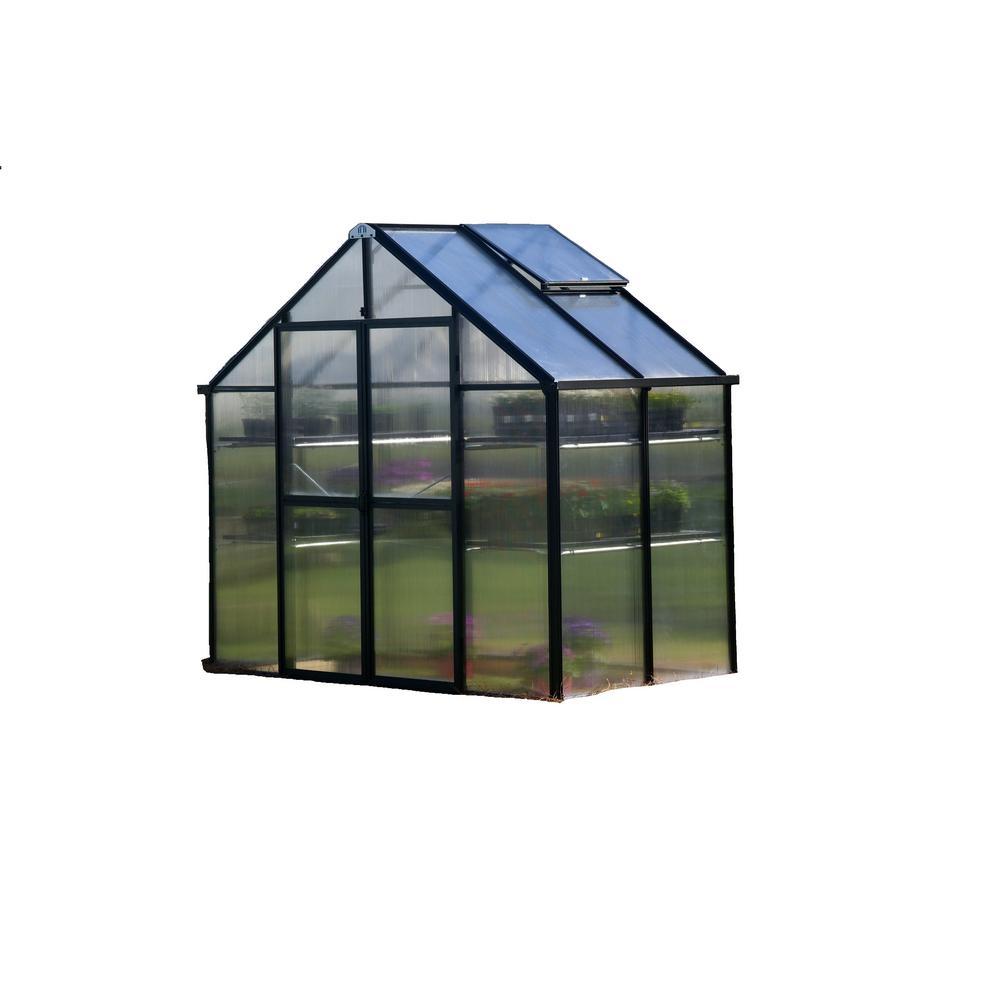 8 ft. x 4 ft. Black Patio Greenhouse
