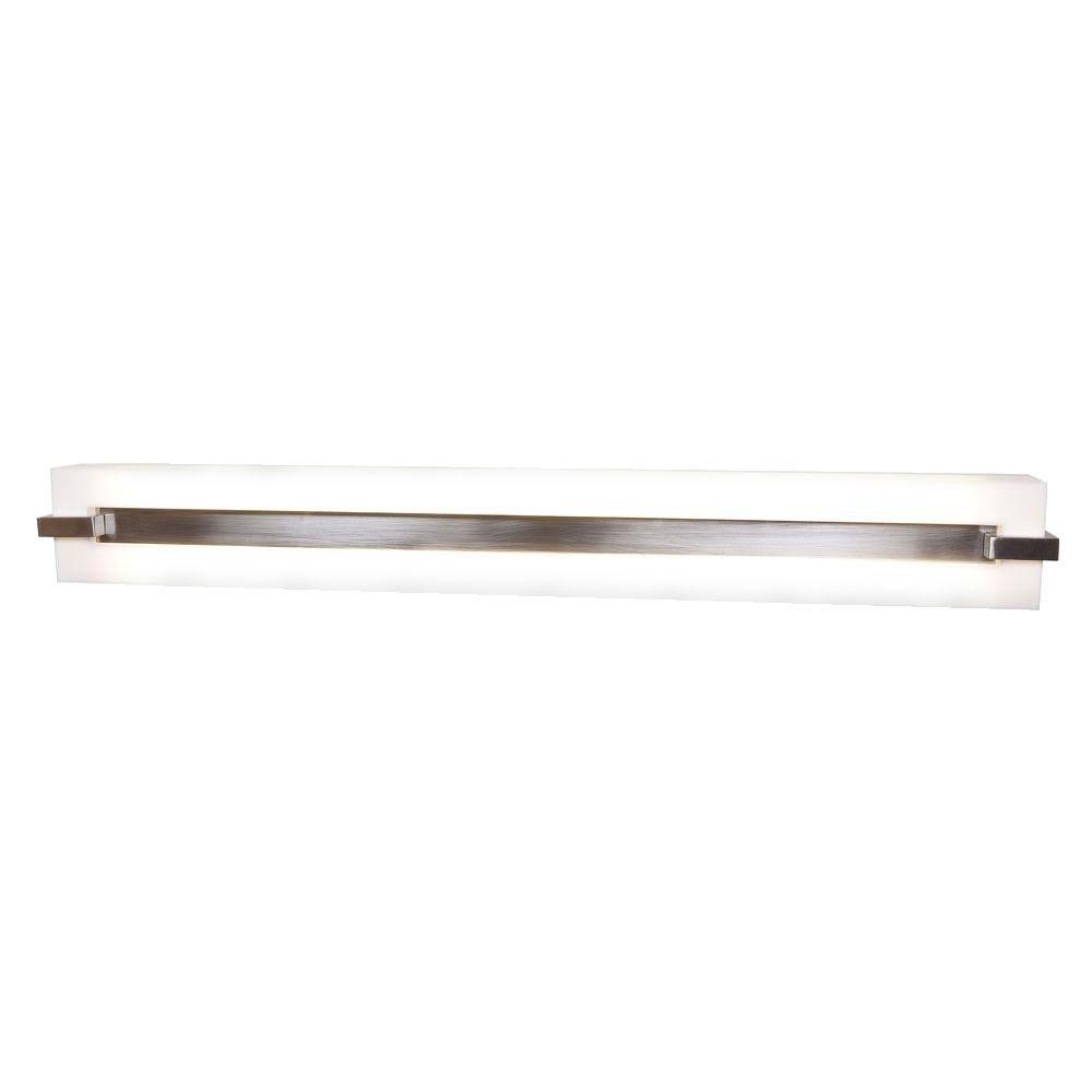 Illumine 2 Light Vanity Brushed Steel Finish Acrylic Finish -DISCONTINUED
