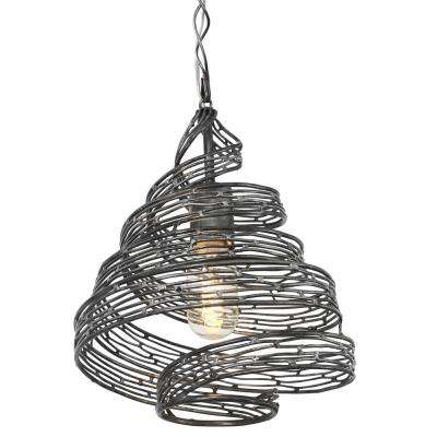 Flow 1-Light Steel Ore Wrapped Pendant