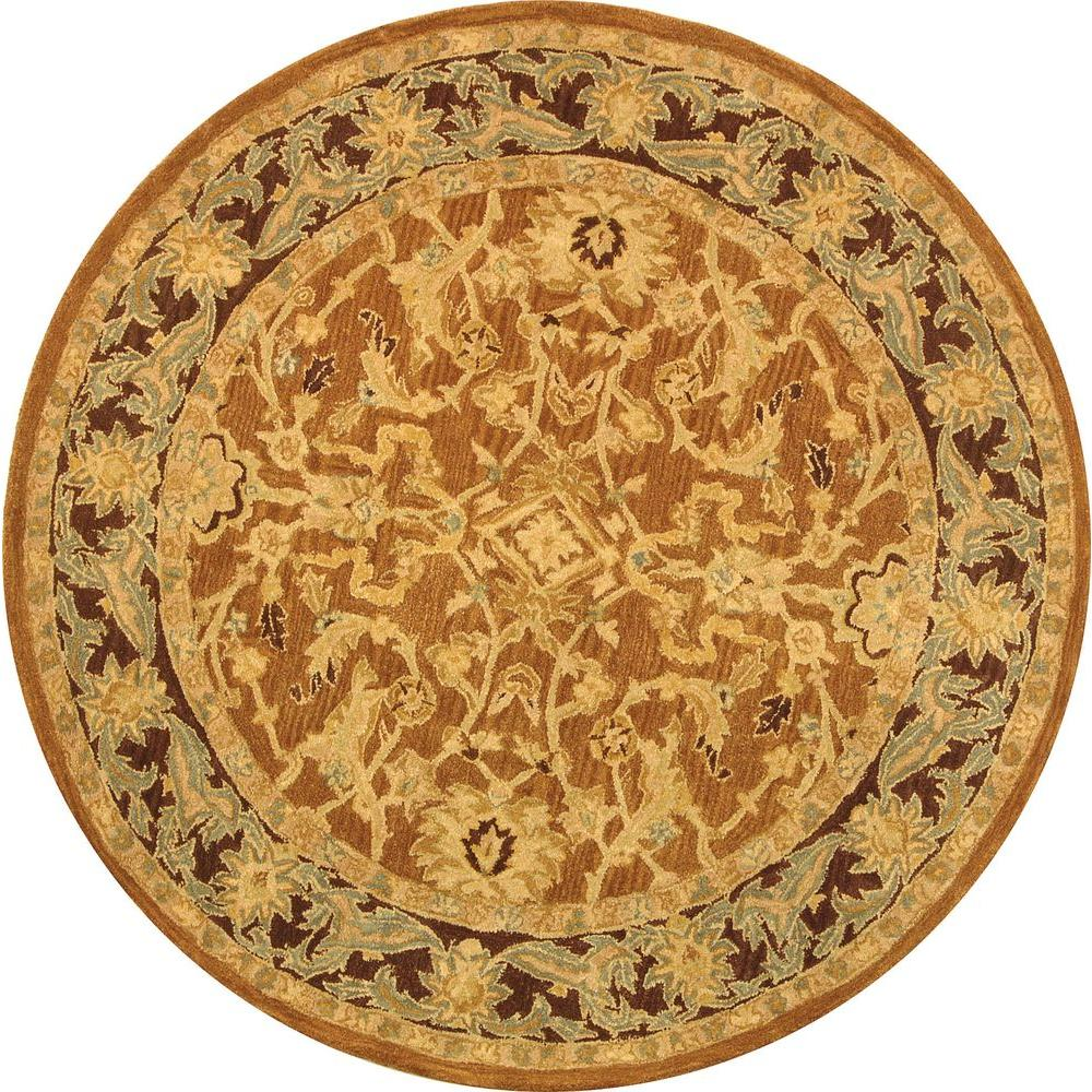 Safavieh Anatolia Brown/Plum 8 ft. x 8 ft. Round Area Rug