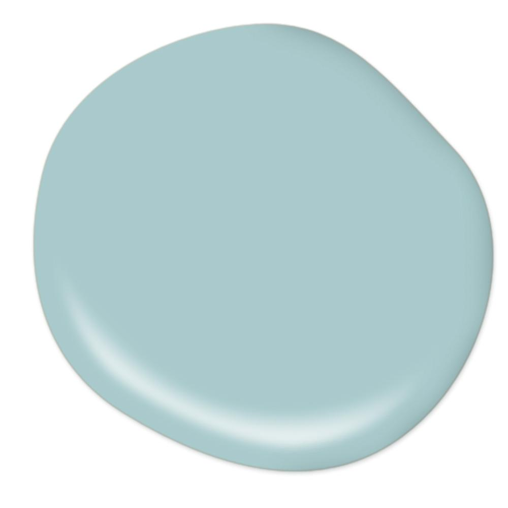 BEHR ULTRA 8 oz. #PMD-95 Coastal Surf Satin Enamel Interior/Exterior Paint and Primer in One Sample