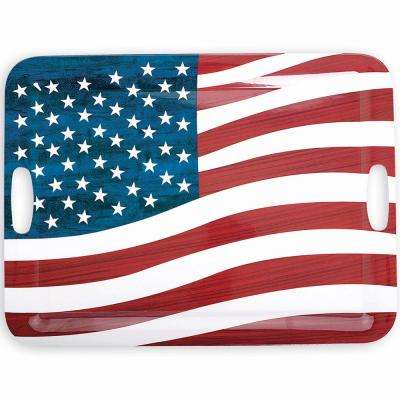19.75 in. x 14.5 in. Stars And Stripes Serving Tray (2-Pack)