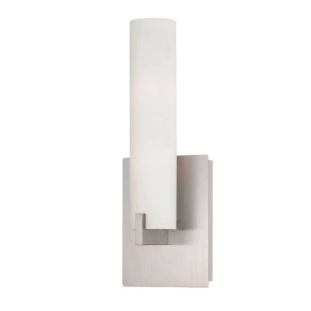Eurofase Zuma Collection Light Brushed Nickel Wall Sconce - 2 light bathroom sconce
