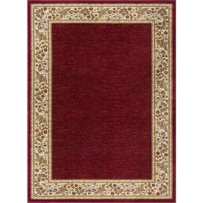 Sensation Red 7 ft. 10 in. x 10 ft. 3 in. Traditional Area Rug