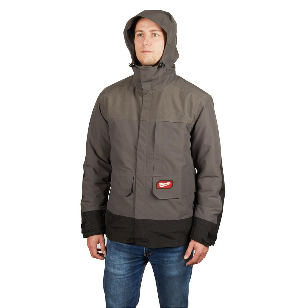 Milwaukee Milwaukee Men's 3X-Large M12 12-Volt Lithium-Ion Cordless Heated Quilted Jacket Kit W/Gray Rainshell (1)2.0Ah Battery&Charger