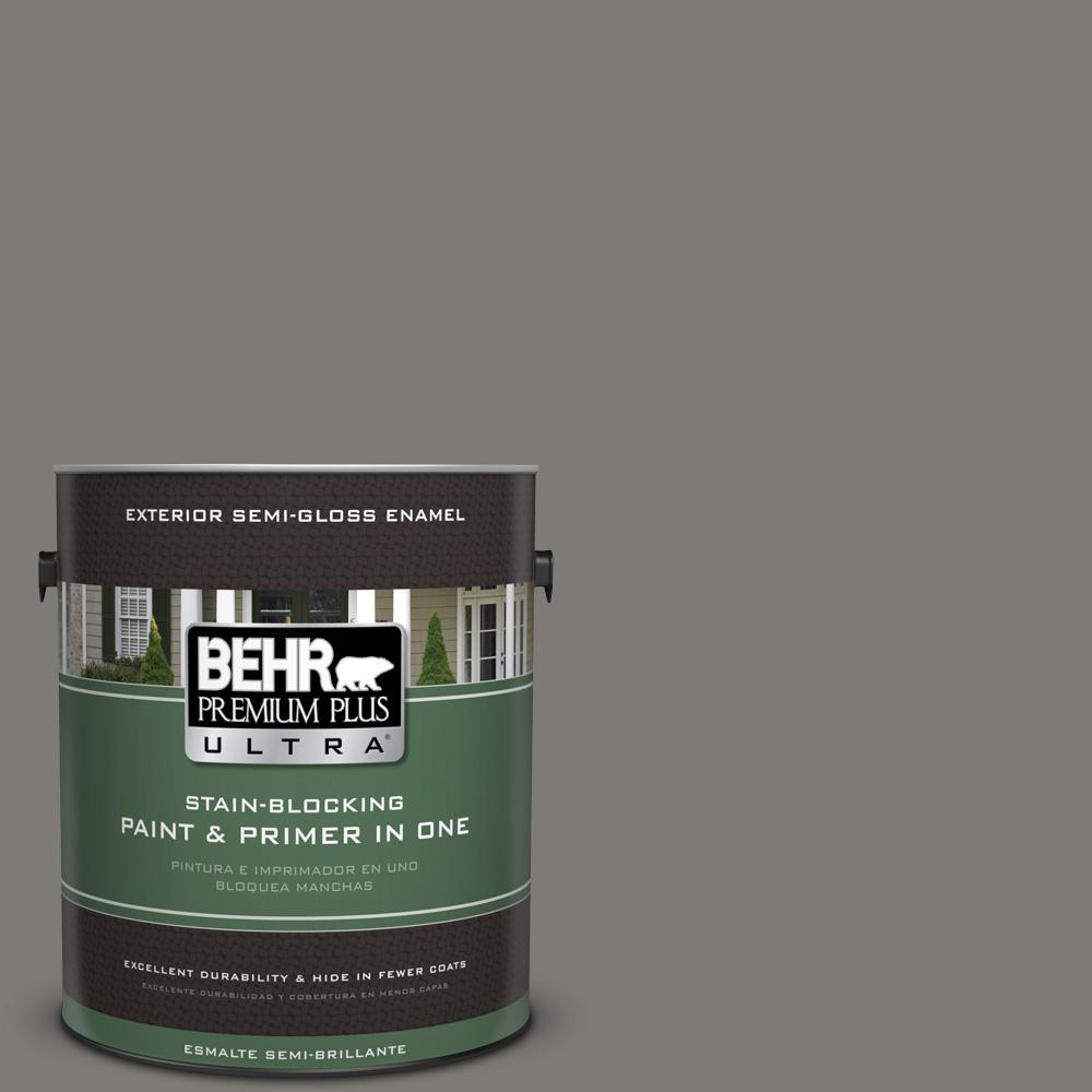 1 gal. #PPU24-21 Greyhound Semi-Gloss Enamel Exterior Paint