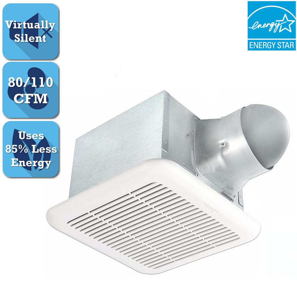 Signature Series 80-110 CFM Ceiling Bathroom Exhaust Fan,...
