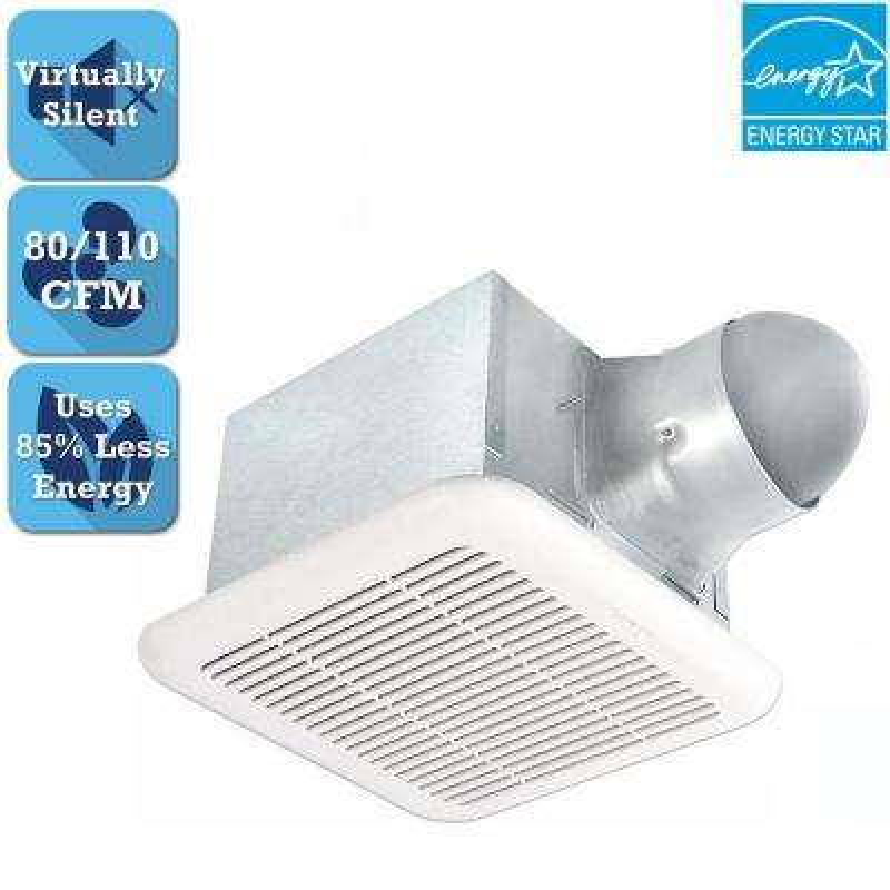 Signature Series 80-110 CFM Ceiling Bathroom Exhaust Fan, ENERGY STAR*