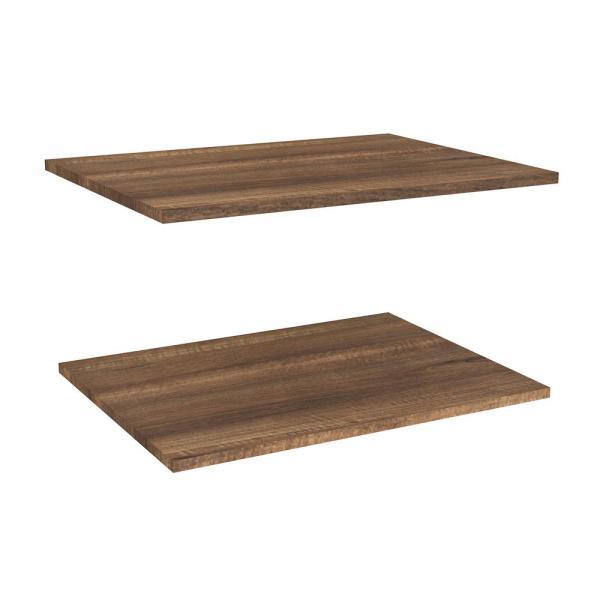 Impressions Walnut Deluxe Shelves for 25 in. W Impressions Tower (2-Pack)
