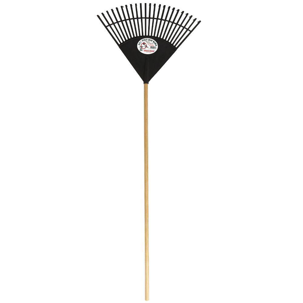 Emsco Cavex Series 22.5 in. Black Poly Leaf Rake