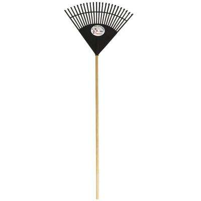 Cavex Series 22.5 in. Black Poly Leaf Rake
