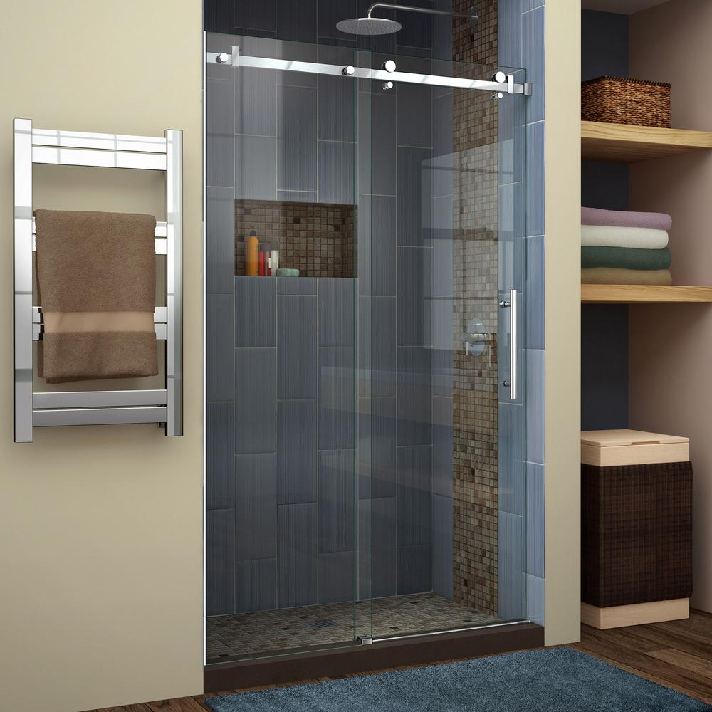Bathroom Sliding Glass Doors: DreamLine Enigma Air 44 In. To 48 In. X 76 In. Frameless