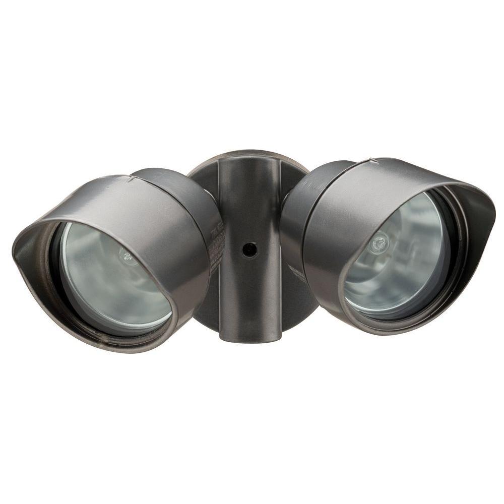 N 2-Lamp Outdoor Bronze Floodlight-OFTR 200Q 120 LP BZ M12 - The ...