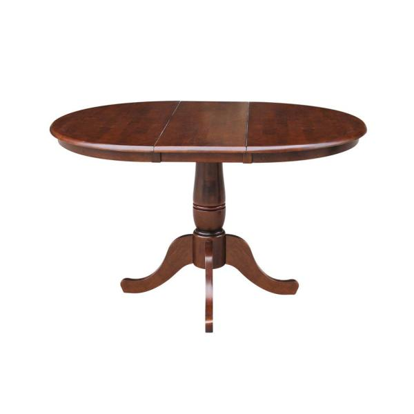 International Concepts Espresso 36 In X 36 In X 48 In Extension Laurel Pedestal Table K581 36rxt The Home Depot