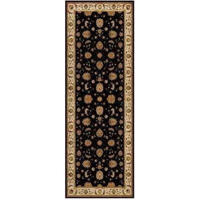 Dynasty Black/Beige 2 ft. 7-1/2 in. x Your Choice Length Finished Stair Runner