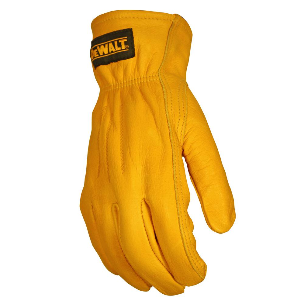 Leather work gloves with thinsulate lining - Dewalt Extra Large Premium Leather Driver Work Glove