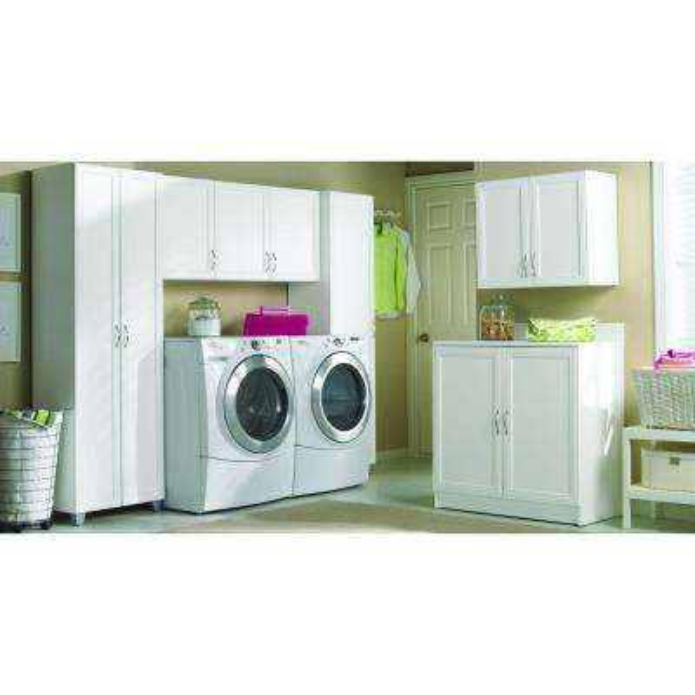 5-Shelf Laminate Storage Cabinet in White