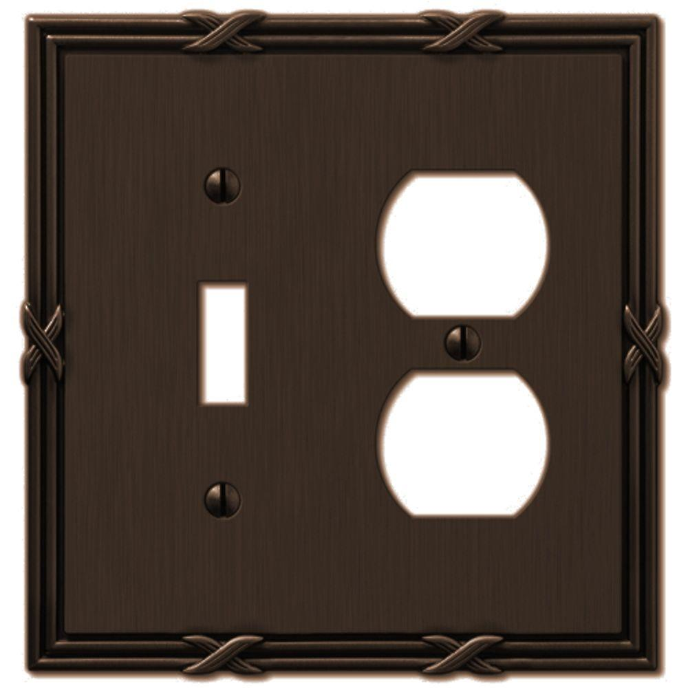 Ribbon and Reed 1 Toggle 1 and Duplex Wall Plate -