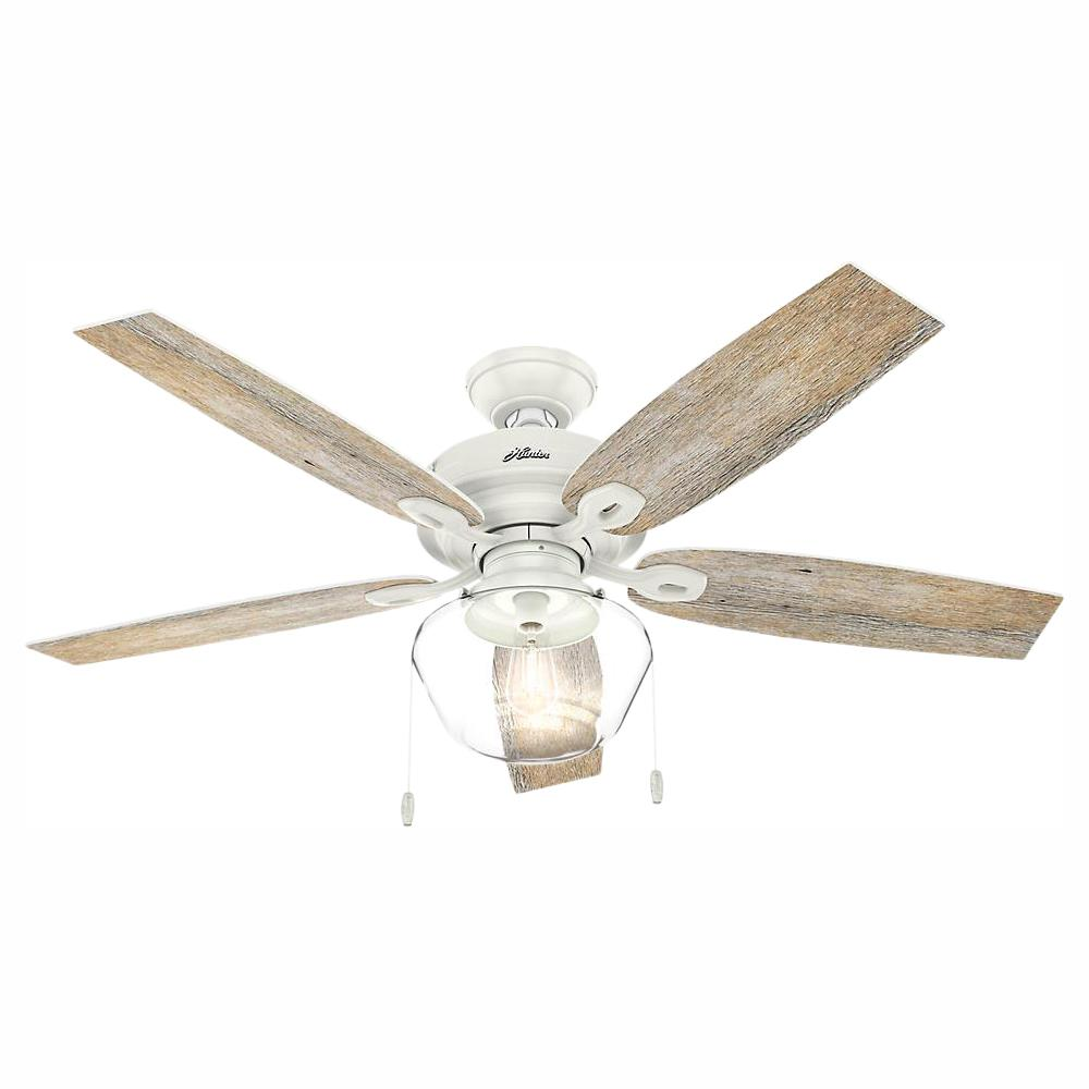 Hunter Crown Canyon 52 in. LED Indoor/Outdoor Fresh White Ceiling Fan