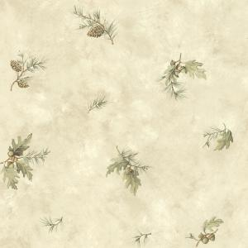 Brimstone Bone Forest Leaf Toss Wallpaper Sample
