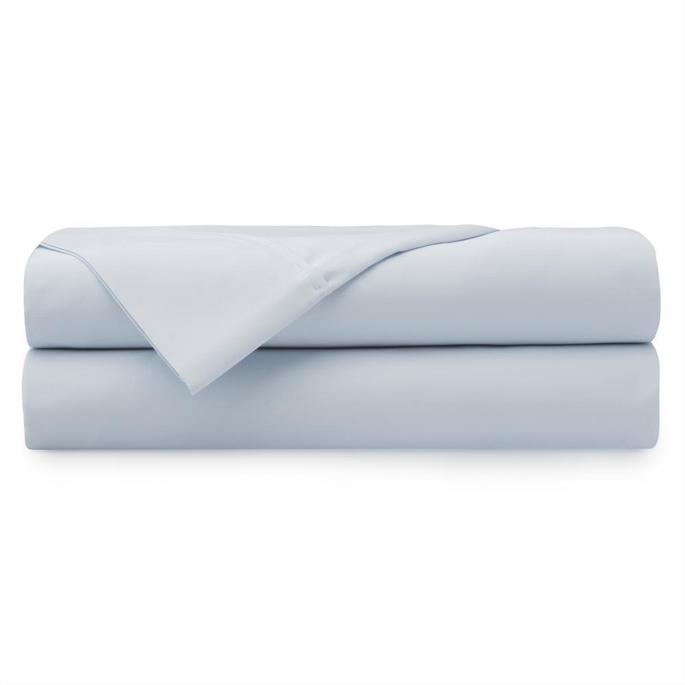 WELSPUNUSA WELSPUN USA 4-Piece Blue Hydra Solid 1000 Thread Count Cotton Blend Queen Sheet Set