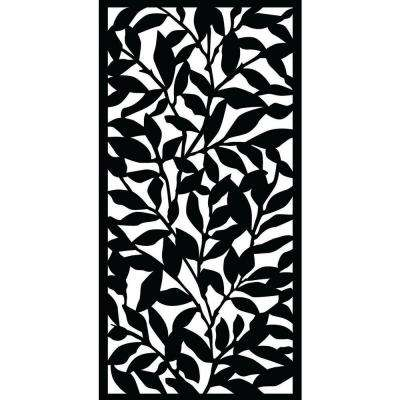 Tangle 0.3 in. x 71 in. x 2.95 ft. Recycled Plastic Decorative Screen in Slimline Frame in Charcoal (Bundle of 4)