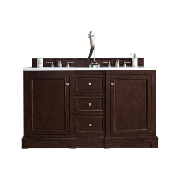 De Soto 60 in. W x 35 in. H Double Bath Vanity Cabinet Only in Burnished Mahogany