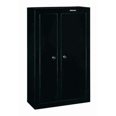 10-Gun Black Double Door Security Cabinet