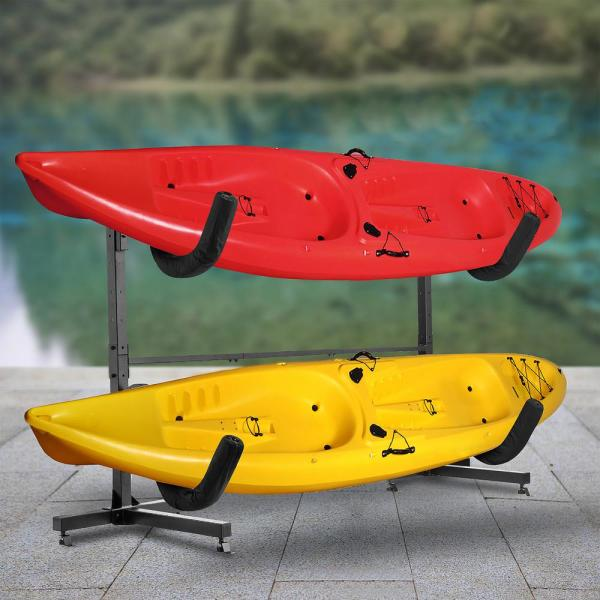 Unbranded Freestanding Kayak Storage Rack Outdoor Upright Display Stand Holds 2 Kayaks Canoes Sup On Docks Decks And Garage 478496vqp The Home Depot