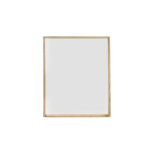 Medium Rectangle Gold Novelty Mirror (24 in. H x 20 in. W)