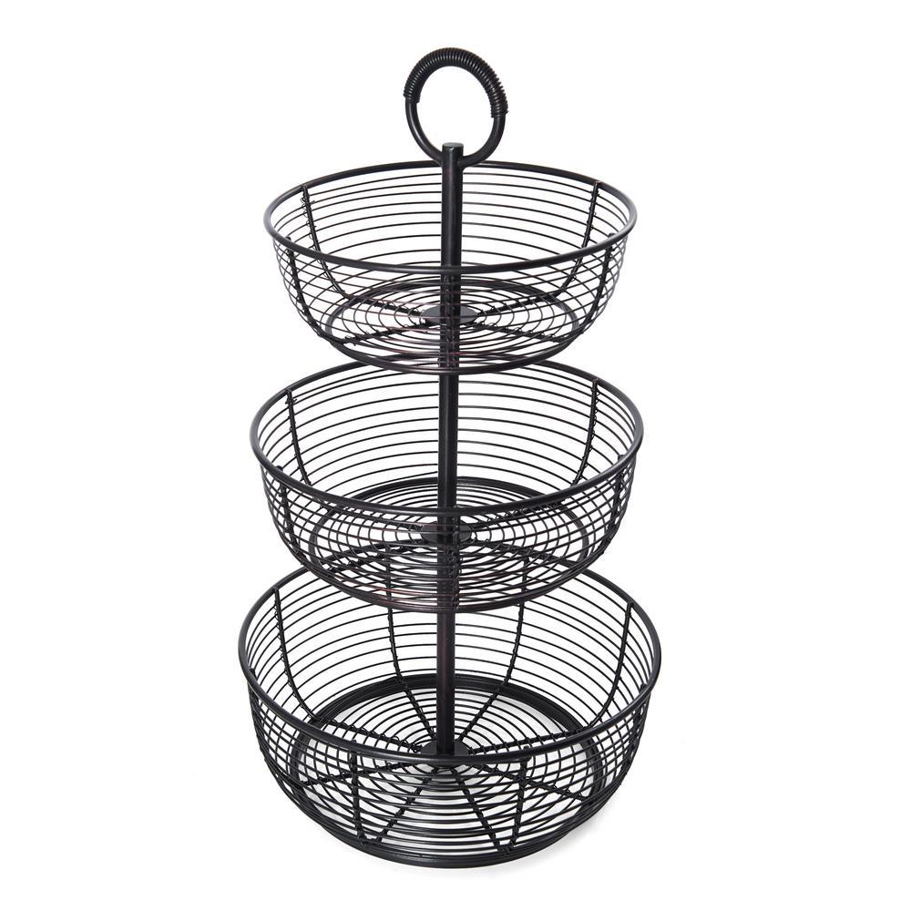 3-Tier Round Wrap Basket