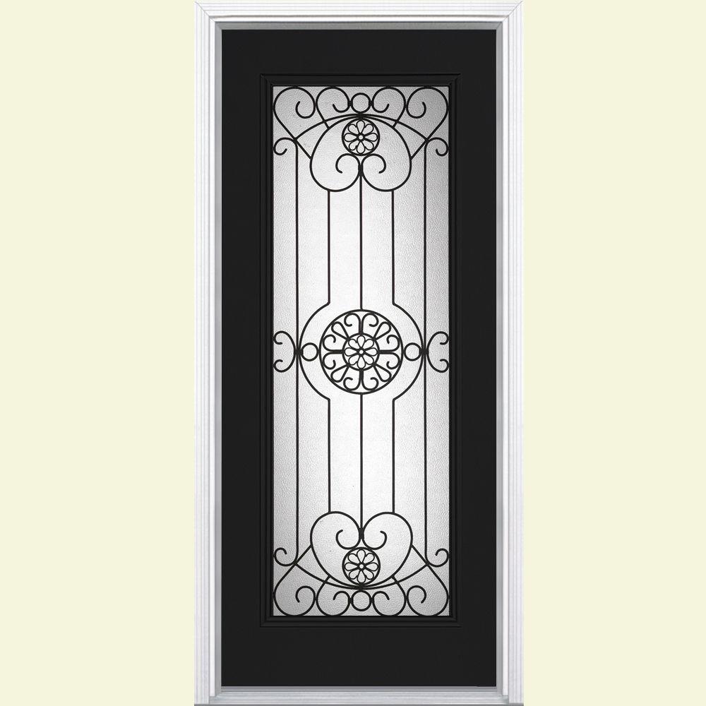 Masonite Santa Maria Full Lite Painted Steel Prehung Front Door with Brickmold-DISCONTINUED