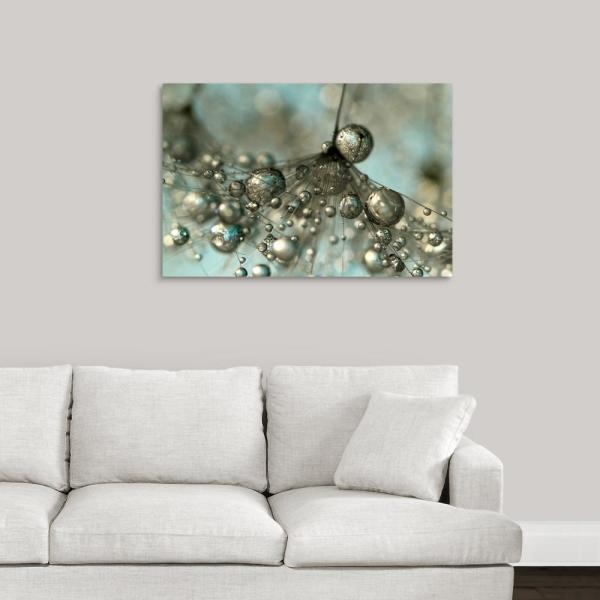 Dandy In Silver And Blue By Sharon Johnstone Canvas Wall Art