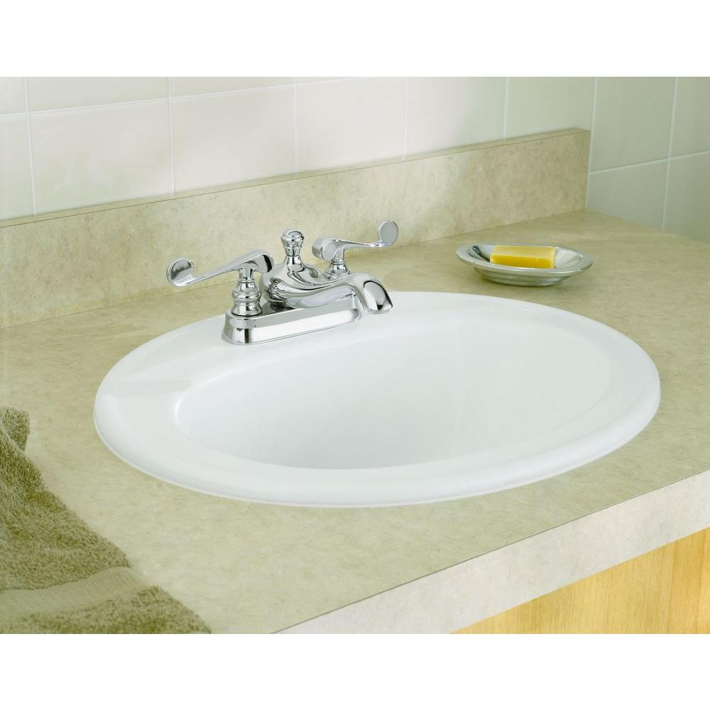 Top Mount Vitreous China Bathroom Sink