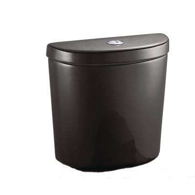 1.1 GPF/1.6 GPF Dual Flush Toilet Tank Only for Concealed Trapway Toilet Black