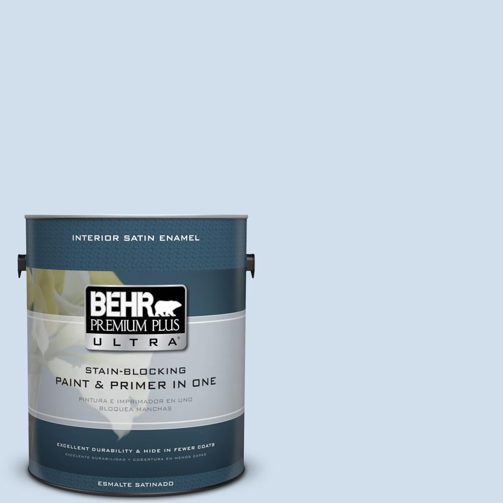 1 gal. #560A-1 Pale Sky Satin Enamel Interior Paint and Primer