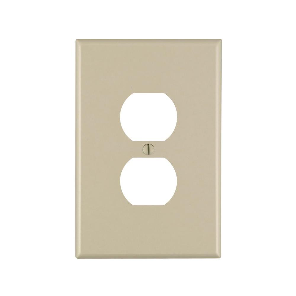 Wire Diagram Leviton Ez Max Simple Wiring Duplex Switch 1 Gang Jumbo Outlet Wall Plate Ivory R51 86103 00i Uk