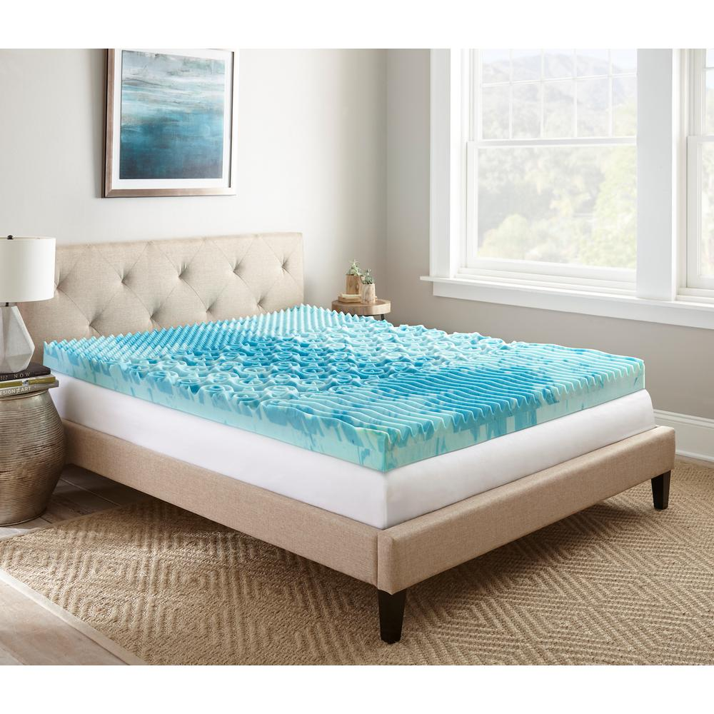 Lane 4 in. Queen Gellux Gel Memory Foam Mattress Topper ...