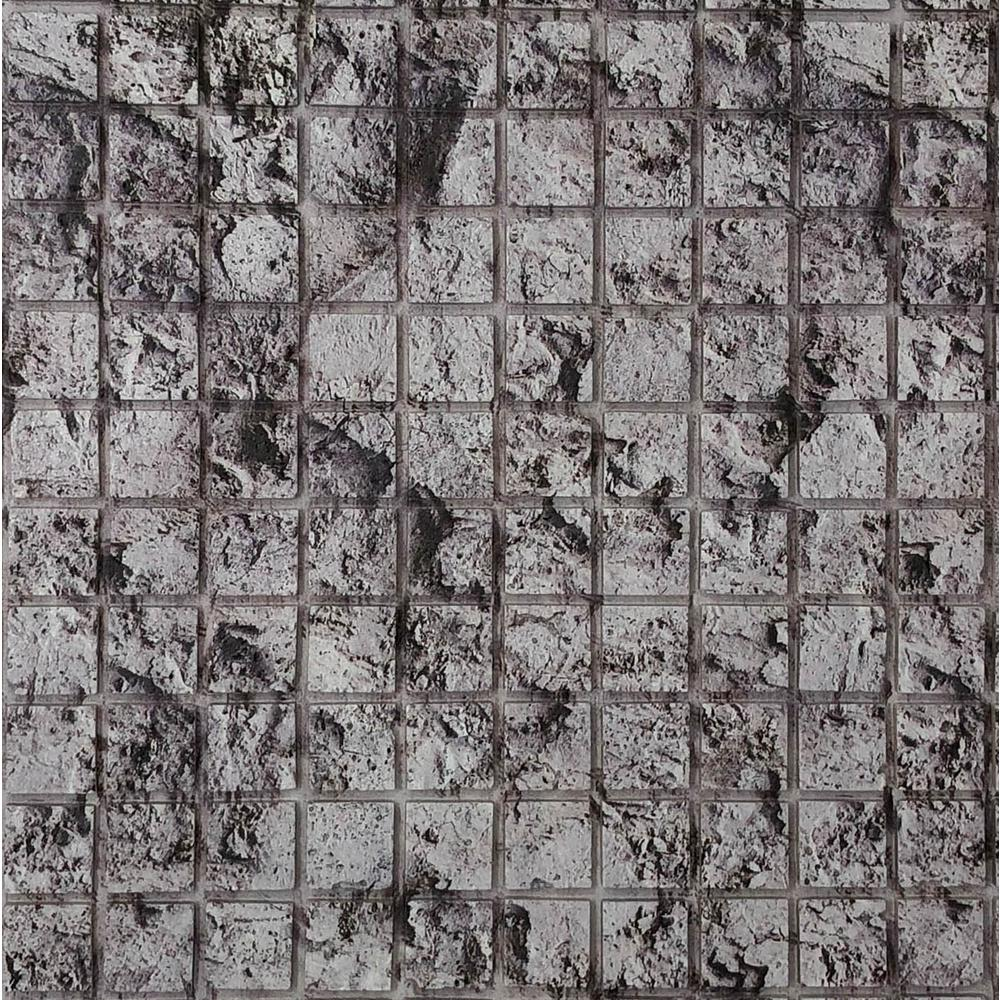 Instant Mosaic Peel and Stick Stone Wall Tile - 3 in. x 6 in. Tile ...